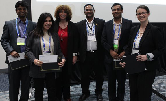 Pictured from Left to Right: Ayan Biswas, Mariana Cerqueira, WHS President, Marjana Tomic Canic, WHS Awards Chair, Praveen Arany, Mithun Sinha and Monica Fahrenholtz